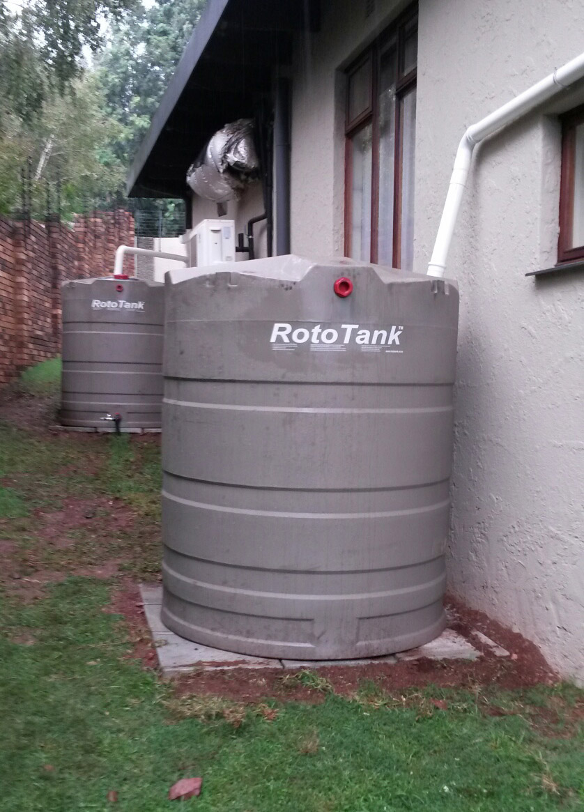 Water harvesting, water backup system